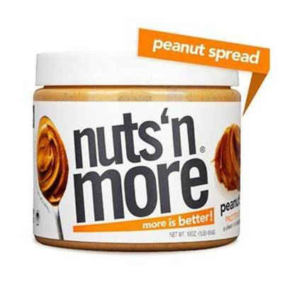 Picture of NUTS N MORE - HIGH PROTEIN + PEANUT SPREAD - PEANUT BUTTER