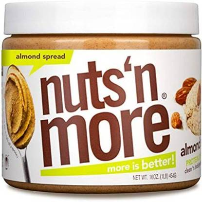 Picture of NUTS N MORE - HIGH PROTEIN + PEANUT SPREAD - ALMOND BUTTER