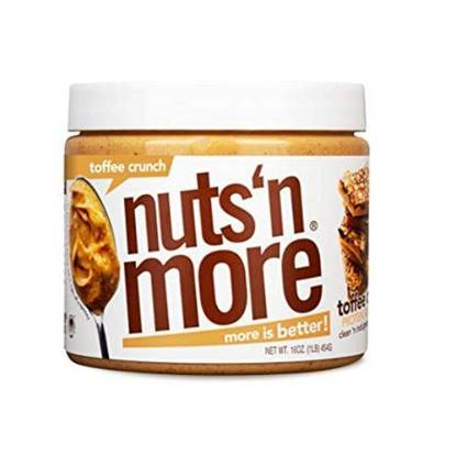 Picture of NUTS N MORE - HIGH PROTEIN + PEANUT SPREAD - TOFFEE CRUNCH