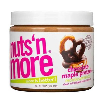 Picture of NUTS N MORE - HIGH PROTEIN + PEANUT SPREAD - CHOCOLATE MAPLE PRETZEL