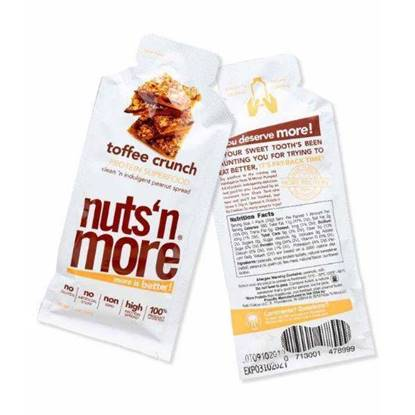 Picture of NUTS N MORE  PROTEIN SUPERFOOD TOFFEE CRUNCH  SNACK PACK