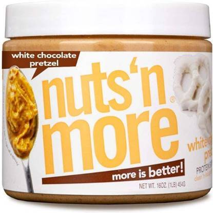Picture of NUTS N MORE - HIGH PROTEIN + PEANUT SPREAD - WHITE CHOCOLATE PRETZEL