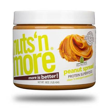 Picture of NUTS N MORE - HIGH PROTEIN + PEANUT SPREAD - VEGAN PLANT BASED