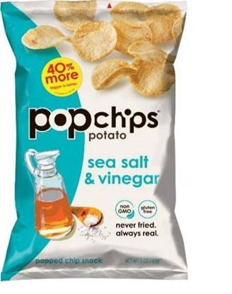 Picture of Popchips Sea Salt & Vinegar Chips 142GM*12