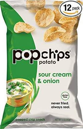 Picture of Popchips Sour Cream & Onion Chips 142GM*12