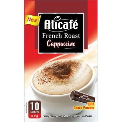 الصورة: علي كافيه مسحوق قهوة الكابتشينو تحميص فرنسي مع مسحوق الشوكولاته