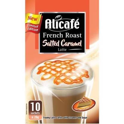 الصورة: علي كافيه مسحوق القهوة لاتيه بالكراميل المملح تحميص فرنسي بنكهة كعكة الجبن