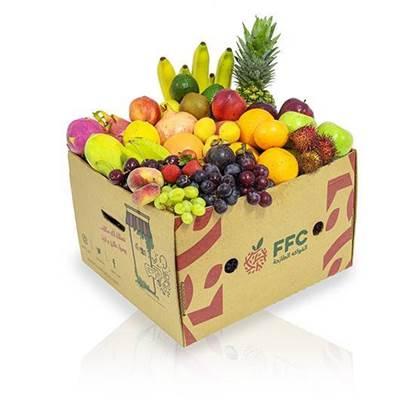 الصورة: (( بوكس فواكهه لشخص واحد (( موز,تفاح,عنب,اجاص,برتقال