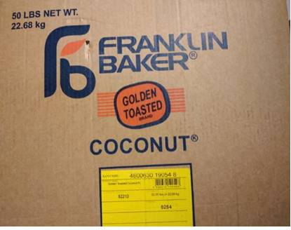 Picture of Roasted coconut carton 22.680kg