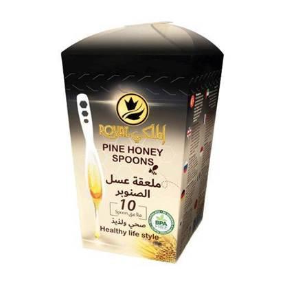 الصورة: رويال الملكي ملاعق عسل الصنوبر 7 جرام*10