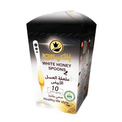 الصورة: رويال الملكي ملاعق العسل الأبيض 7 جرام*10