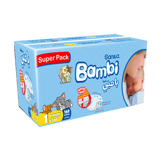 Picture of Bambi Super Pack New Born #1 168 Diaper