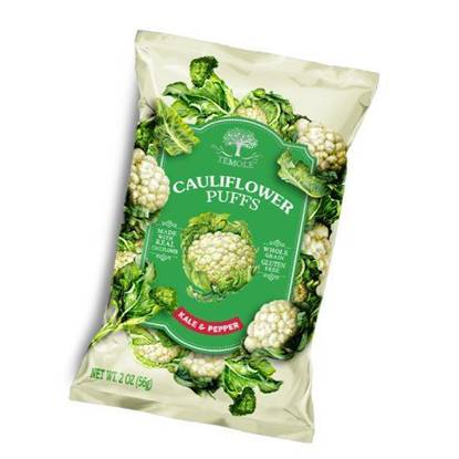 Picture of TEMOLE Cauliflower Puffs Kale & Pepper 56g