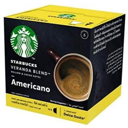 الصورة: كبسولات القهوة ستار بكس بالنكهة الامريكية بطعم الكاكاو 3x102G