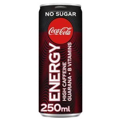 الصورة: مشروب الطاقة  الكوكا كولا بدون سكر 250جم